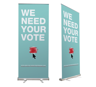 Roll-up banners elections